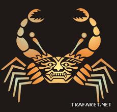 Ацтекский краб (трафарет для декора)