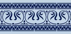 Бордюр 09б (трафарет для росписи)