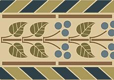 Средневековый бордюр (трафарет для покраски)