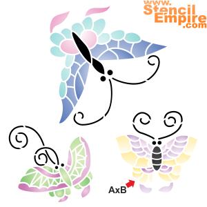 Три бабочки (трафарет для стен)