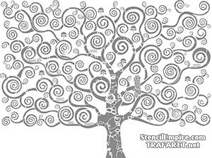 Трафарет Дерево Климта