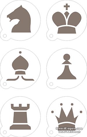 Трафареты Шахматный набор капучино