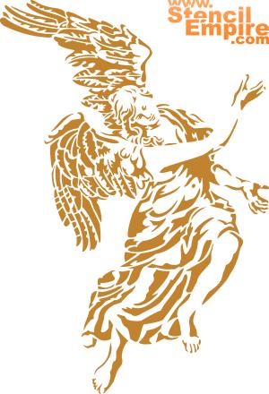 Ангел Барокко (трафарет для росписи)