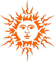 Большое солнце (трафарет для декора)