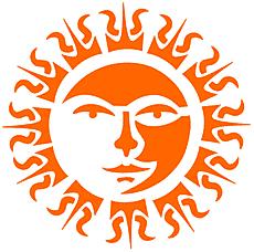 Солнце Ацтеков (художественный трафарет)