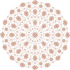 Персидский медальон (трафарет для рисования)
