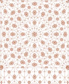 Персидский ковер (трафарет для покраски)