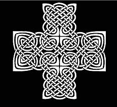 Кельтский крест (трафарет для рисования)
