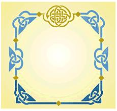 Трилистники и узел (трафарет для рисования)