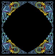 Рамка с павлинами (трафарет для стен)
