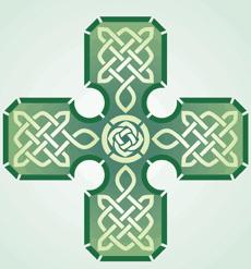 Большой крест (художественный трафарет)