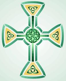 Кельтский крест 2 (трафарет для росписи)