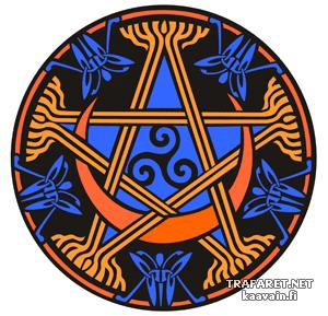 Трафарет Кельтская пентаграмма 95