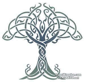 Трафарет Дерево жизни кельтов