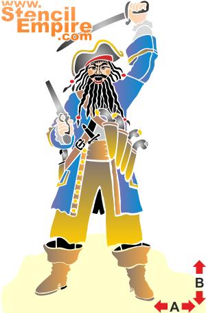 Черная борода (трафарет для росписи)