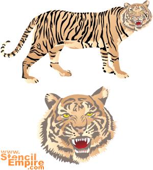 Тигр (трафарет для декора)