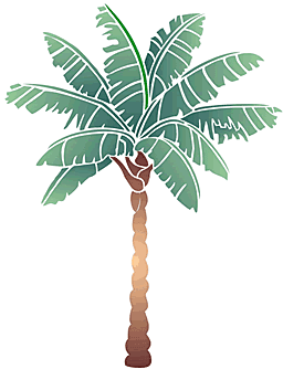Пальма (художественный трафарет)
