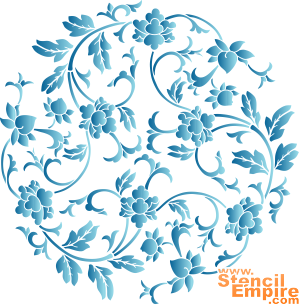Китайский медальон (трафарет для стен)