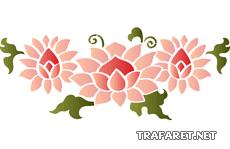 Китайский цветок 3 (трафарет для стен)