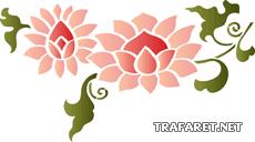 Китайский цветок 1 (трафарет для покраски)