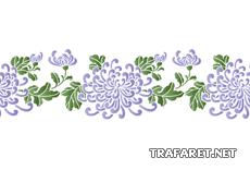 Бордюр китайских хризантем (трафарет для стен)