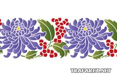 Хризантемы и ягоды (трафарет для росписи)