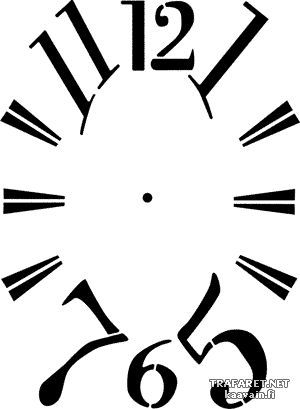 Циферблат 4 (трафарет для декора)