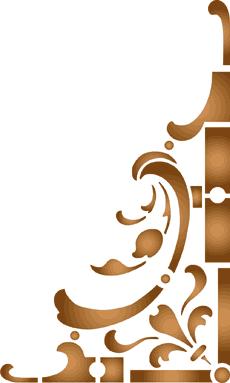 Классический угол (трафарет для росписи)