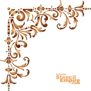 Угол классика (трафарет для стен)