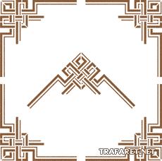 Геометрический угол 2 (трафарет для декора)