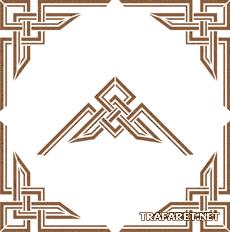 Геометрический угол 3 (трафарет для покраски)