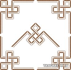 Геометрический угол 7 (трафарет для росписи)