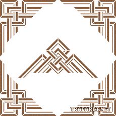 Геометрический угол 8 (трафарет для декора)