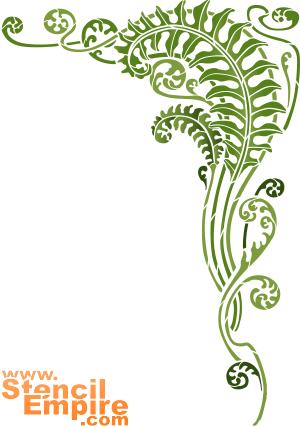 Папортниковый угол (трафарет для росписи)