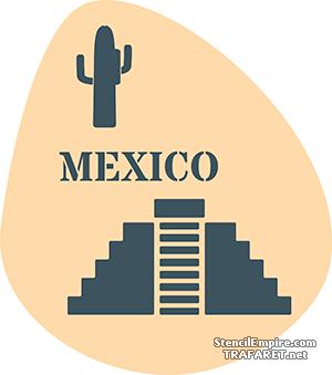 Трафареты Символы Мексики