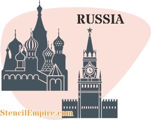 Трафарет Россия