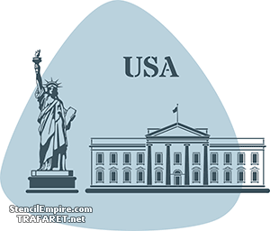 Трафареты США