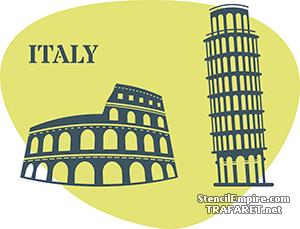 Трафарет Италия
