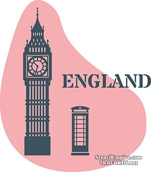 Трафарет Англия