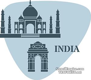 Трафарет Индия