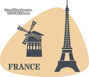 Трафарет Франция
