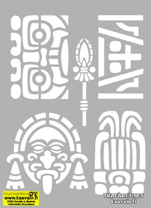 Комплект Ацтеков (трафарет для стен)