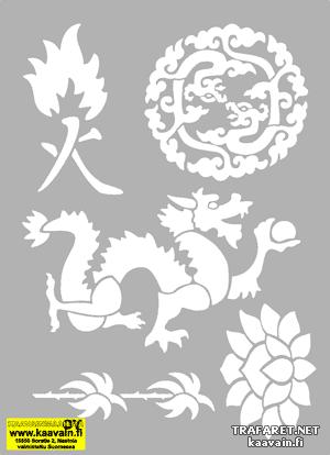 Восточный комплект 10 (трафарет для росписи)