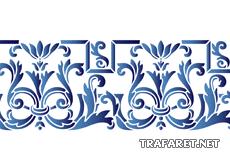 Средневековый узор 5в (художественный трафарет)