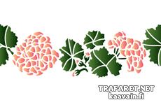 Бордюр из гортензий (трафарет для декора)