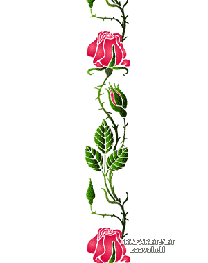 Колючая роза (трафарет для декора)