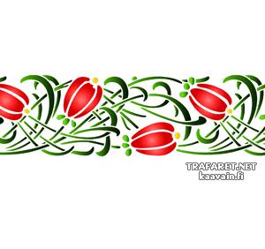 Цветы в траве (художественный трафарет)