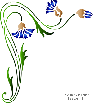 Васильковый угол 72 (трафарет для рисования)