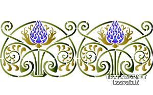 классический репейник Б (трафарет для декора)