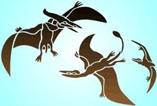 Птерозавры (трафарет для декора)
